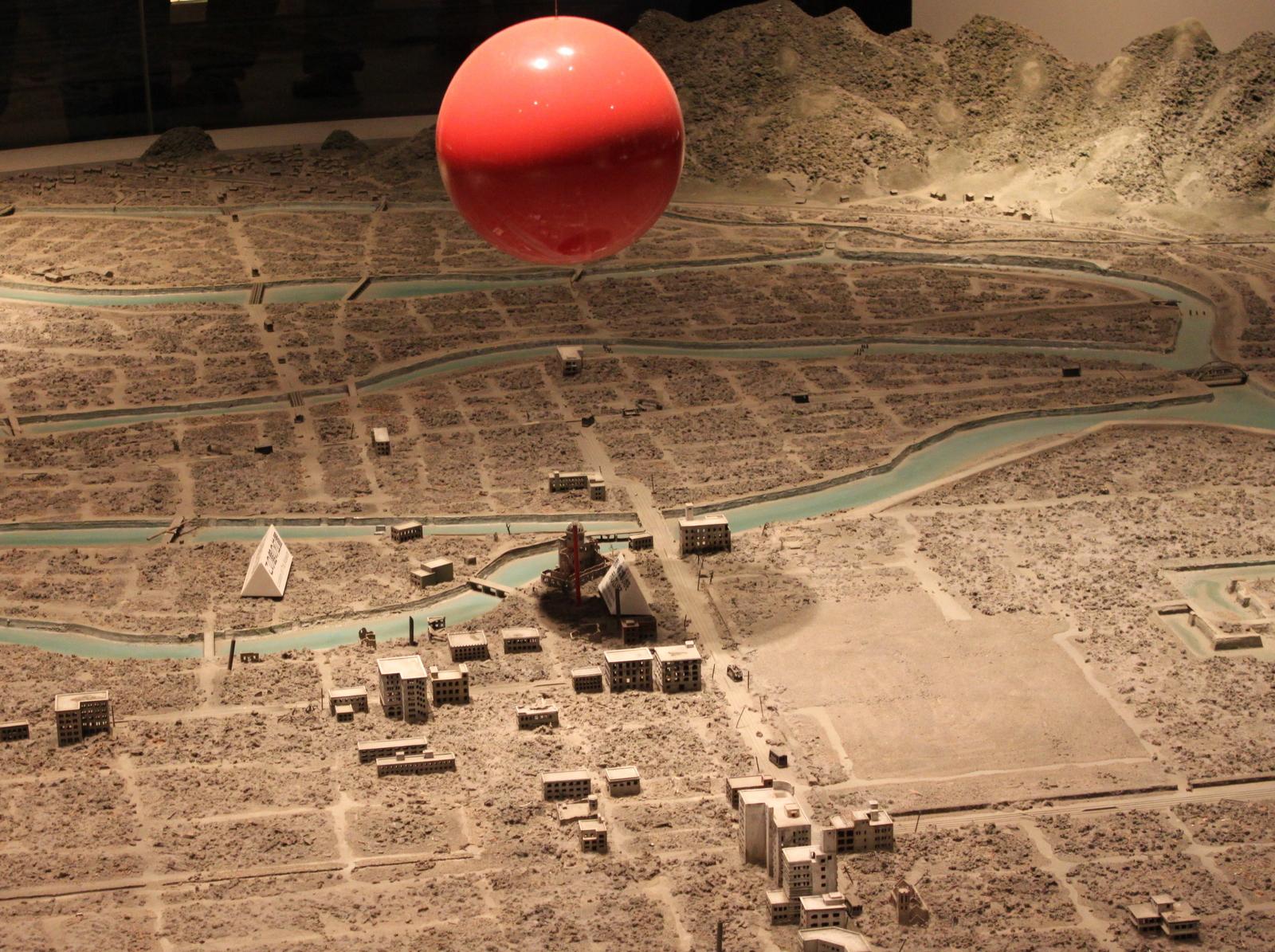 Installation im Atombombenmuseum von Hiroshima