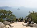 Blick auf die japanische Binnensee vom Misen Berg auf der Insel Miyajima