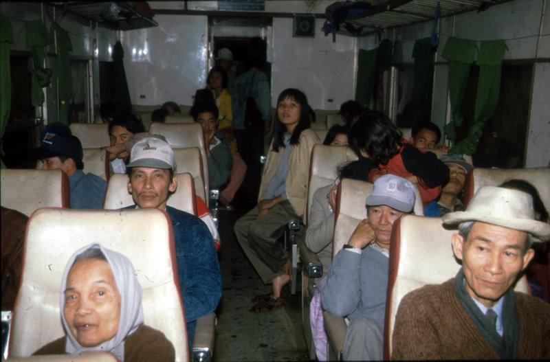 In der Eisenbahn von Hue nach Danang