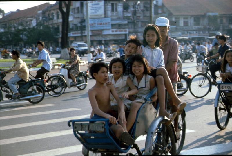 Fahrradrikscha in Saigon
