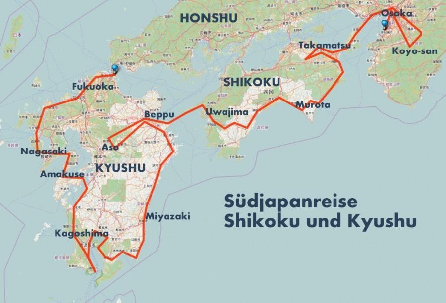 Südjapanreise Routenidee (3)